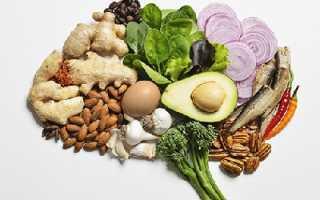 Продукты полезные для сосудов головного мозга и шеи
